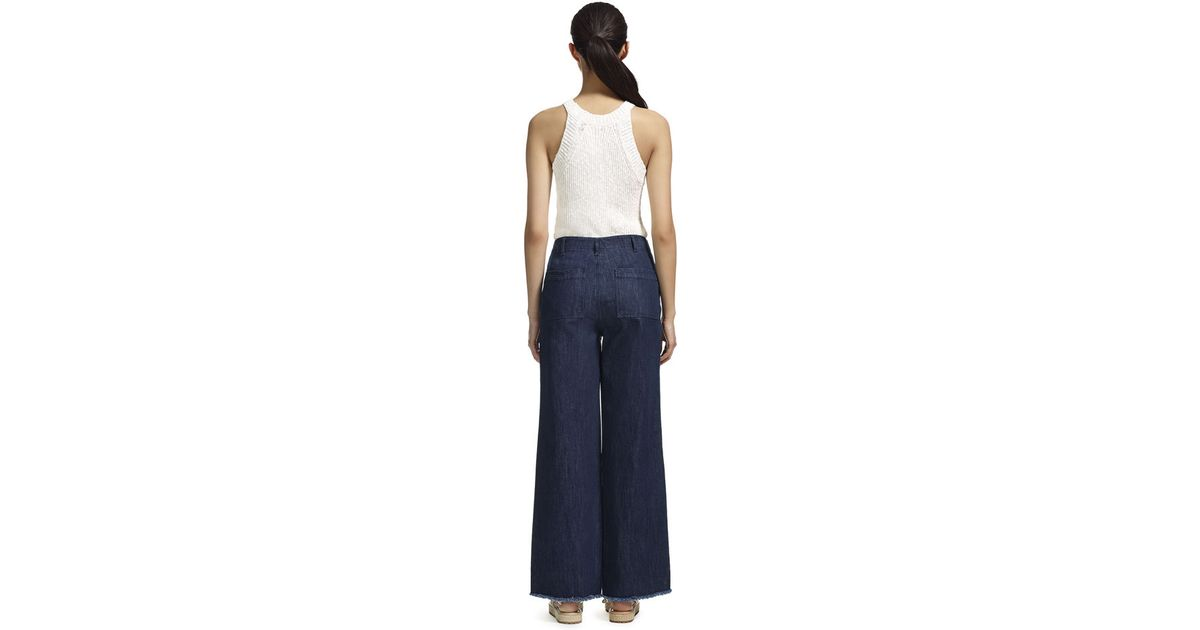 Whistles Wide Leg Jeans in Gray   Lyst