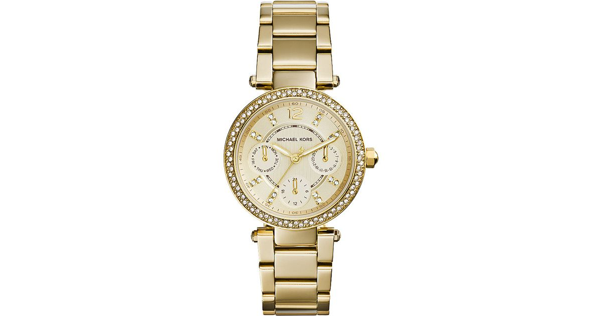 5f6cd11a0d01 Lyst - Michael Kors Ladies Mini Parker Watch Mk6056 in Metallic