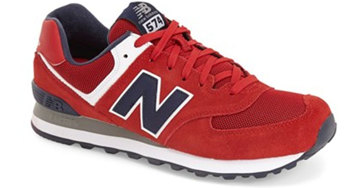 check out e4d22 516f1 New Balance Red '574 Classic' Sneaker for men