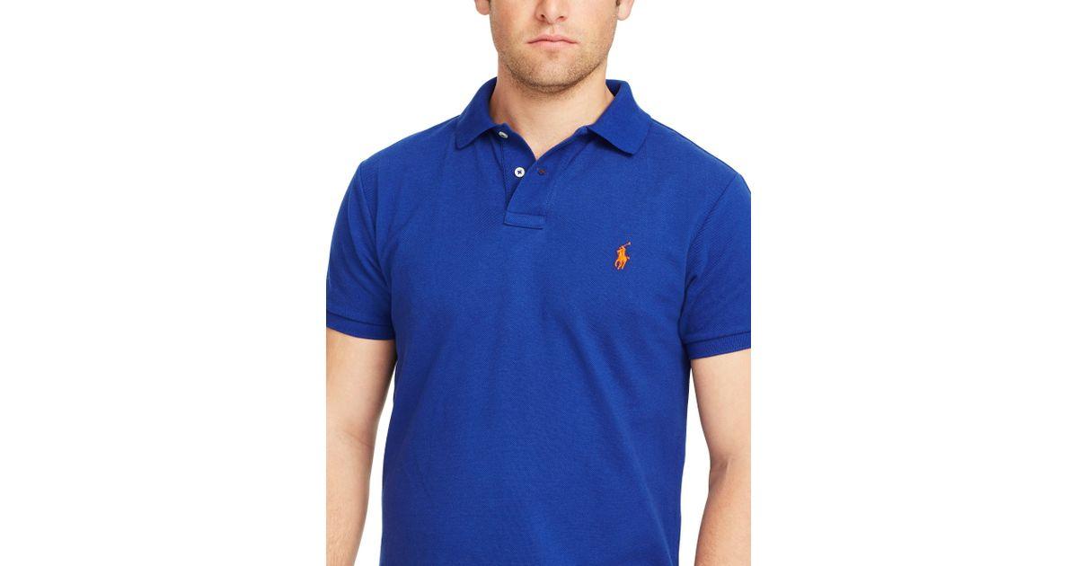 Blue Men Polo Fit Custom Shirt Ralph Lauren For 8n0wNm