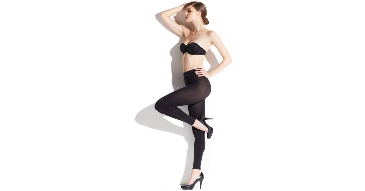 533eeb74213c5 Lyst - Wolford Mat Opaque 80 Leggings in Black