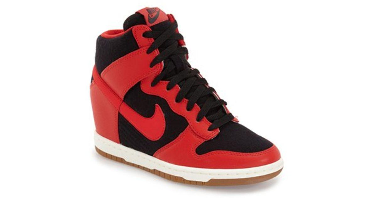 on sale 63cef f83ae Nike  dunk Sky Hi - Essential  Wedge Sneaker in Black - Lyst