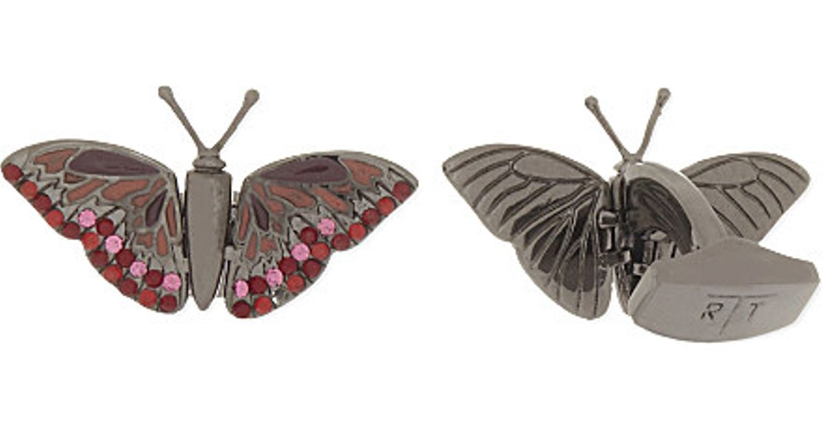 Pink Butterfly Cufflinks