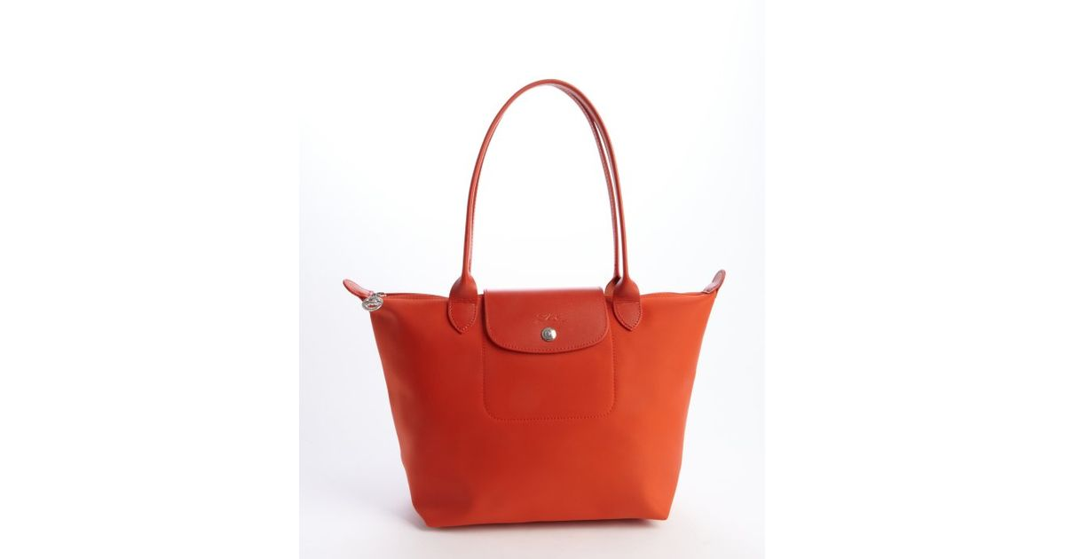 Longchamp Orange Tote