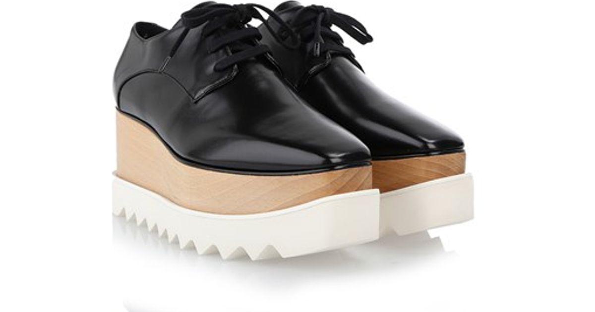 stella mccartney britt eco leather platform loafers in