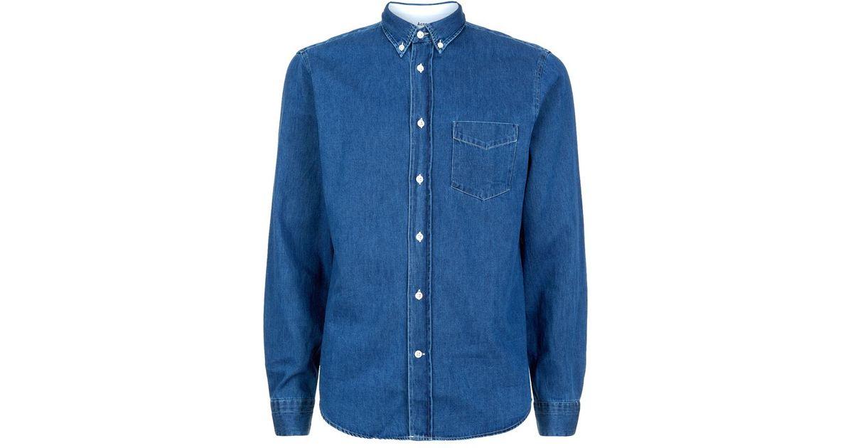 4bb2dd40157 Acne Studios Isherwood Denim Shirt in Blue for Men - Lyst