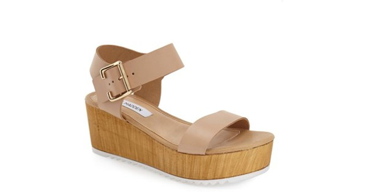 306e68f9d144 Lyst - Steve Madden  nylee  Platform Sandal in Natural