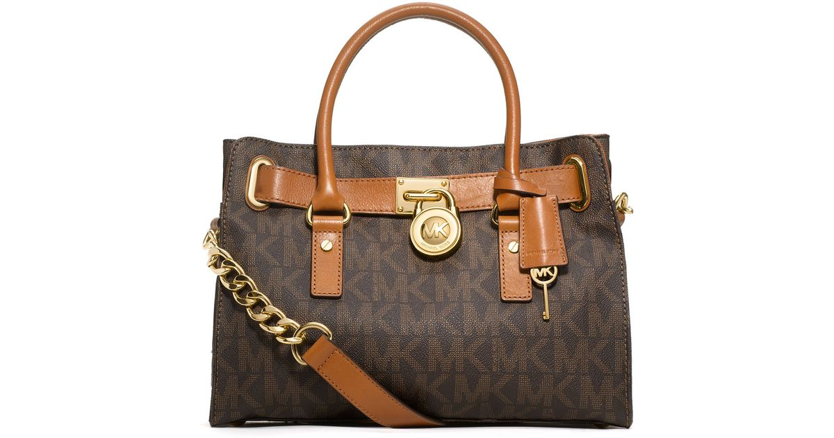 Logo Brown Satchel Kors Mk Bag Michael Hamilton sQdChrt