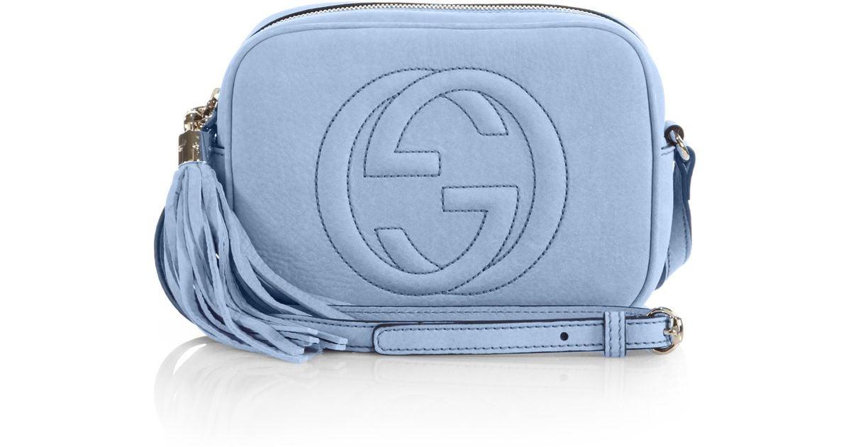 d5de7d6b1d0 Lyst - Gucci Soho Nubuck Leather Disco Bag in Blue