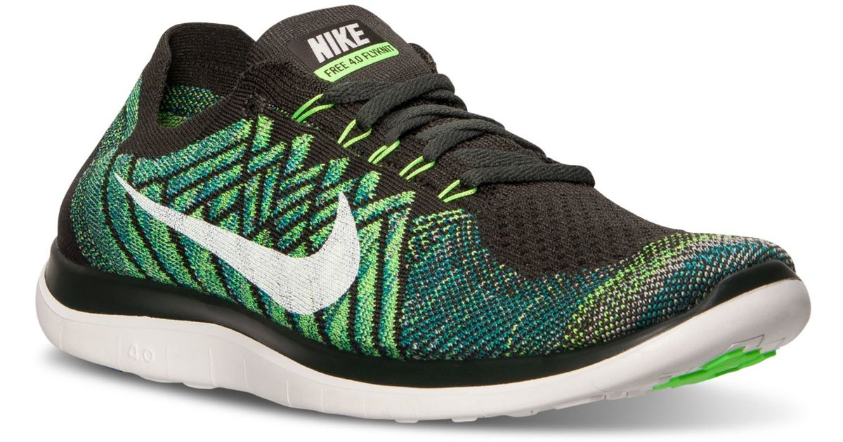 b920d5e919ca ... sweden lyst nike mens free 4.0 flyknit running sneakers from finish  line in green for men