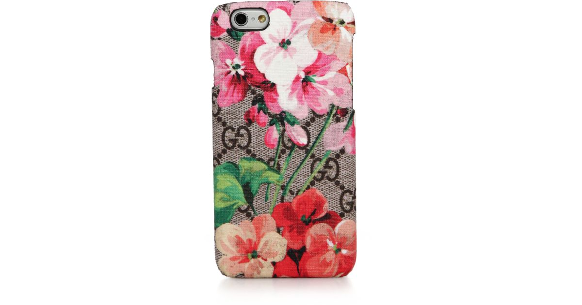 super popular a5693 52f80 Gucci Pink Blooms Gg Supreme Canvas Iphone 6 Case