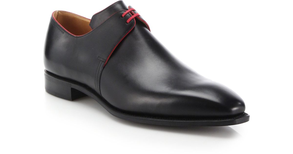 CORTHAY Arca Pullman Lace-Up Leather Derby Shoes 5Tq1hUrx