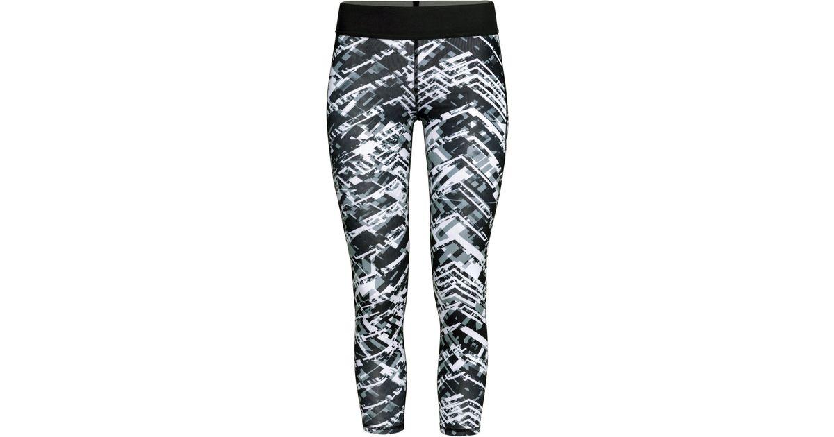 h m sports tights in black black white patterned lyst. Black Bedroom Furniture Sets. Home Design Ideas