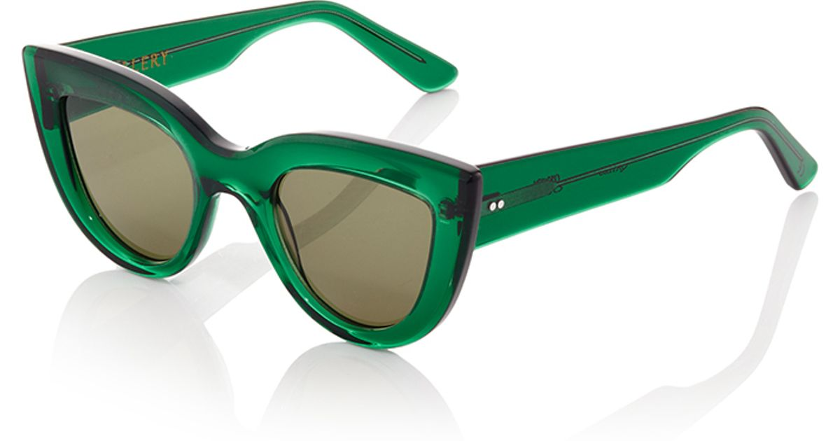 e70c3f8be44b3 Ellery Green Quixote Cat Eye Sunglasses in Green - Lyst