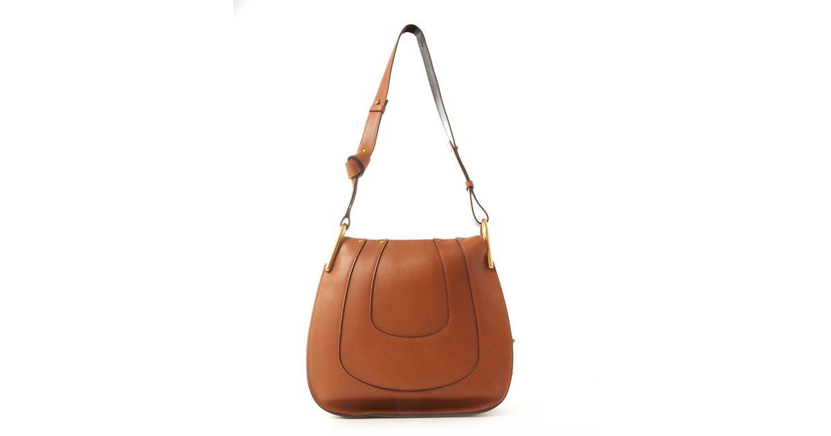 23b76ca8 Chloé Brown Small Tan Hayley Leather Hobo Bag