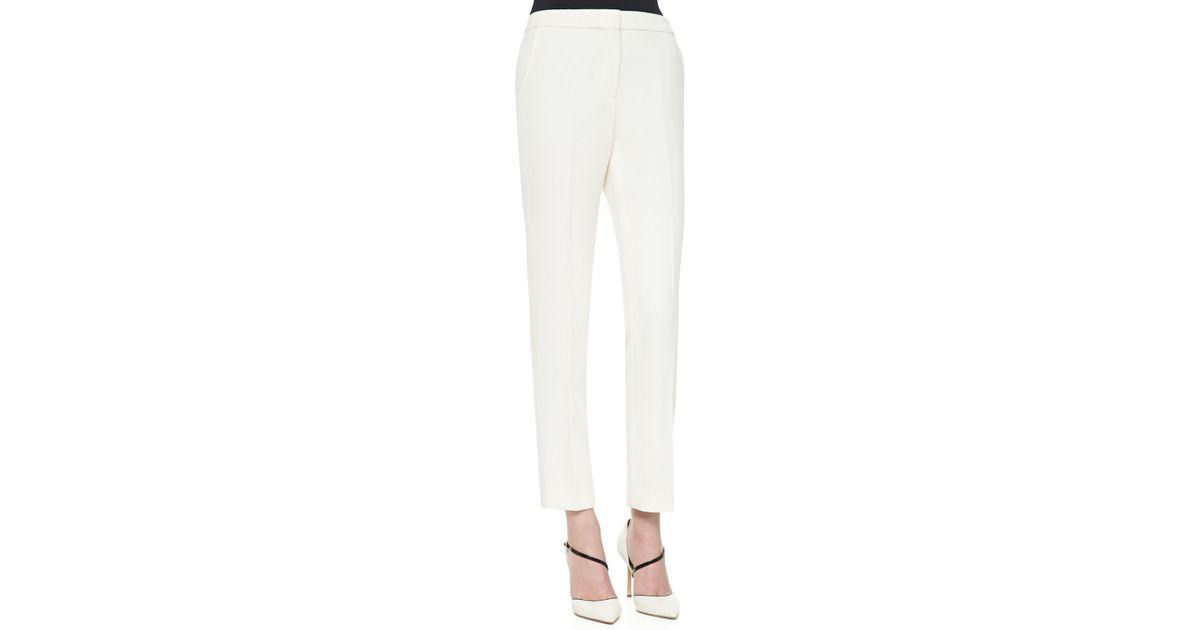 Straight Leg Dress Pants In White