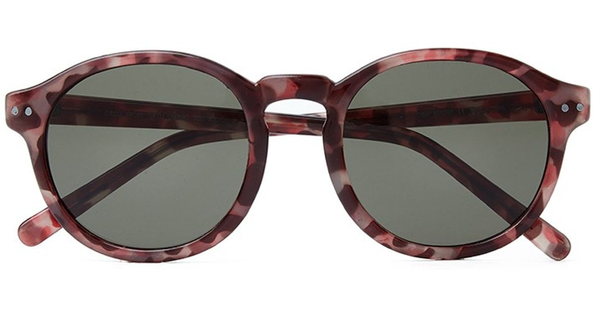 9ee4e4fd9fc Lyst - Cheap Monday Circle Sunglasses - Brown in Brown for Men