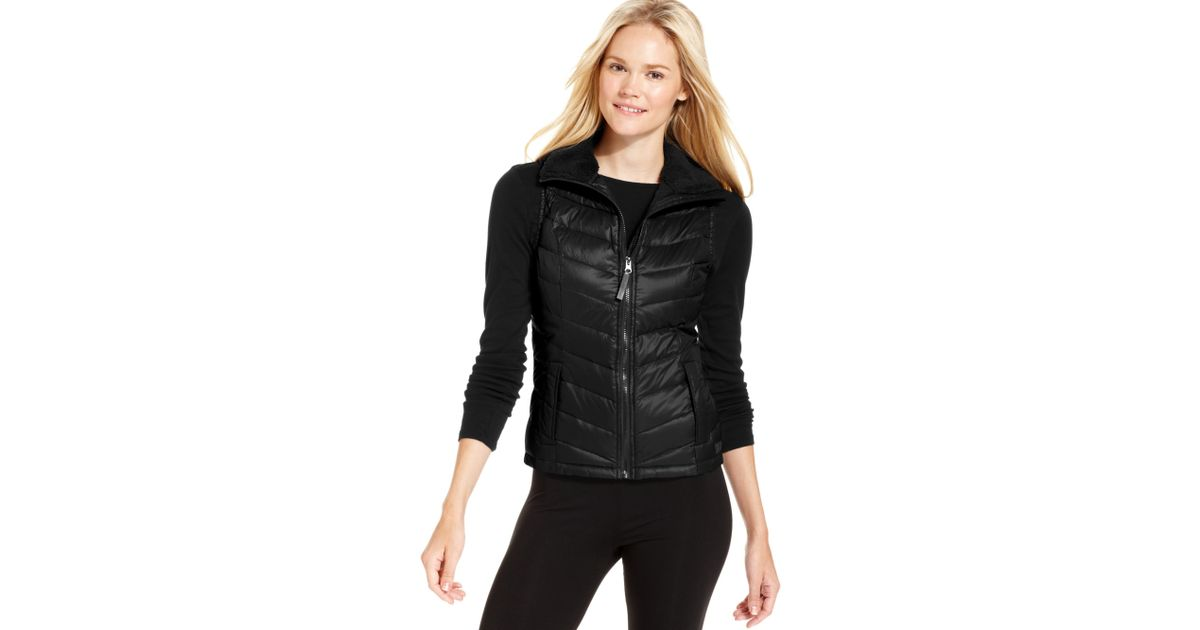 Calvin Klein Performance Quilted Puffer Vest In Black