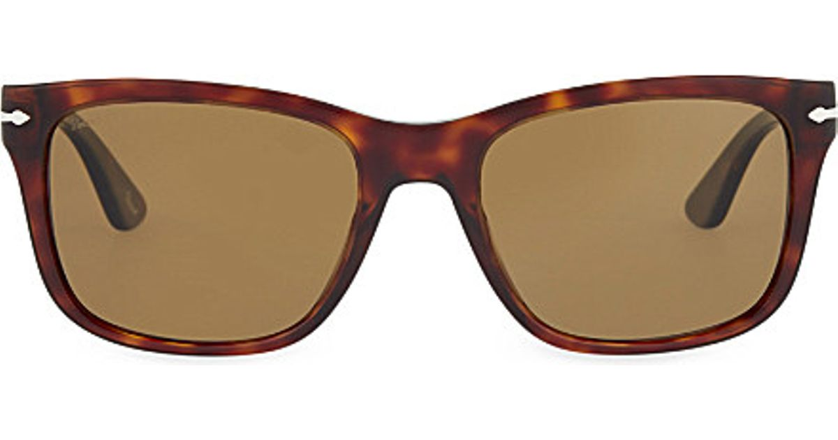07fc2da6e4 Lyst - Persol 3135-s Havana Square Sunglasses in Brown