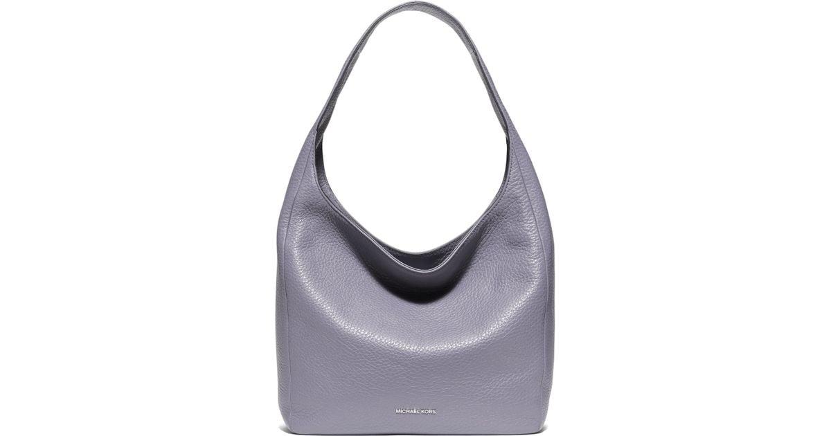 Lyst Michael Michael Kors Lena Large Leather Hobo Bag In