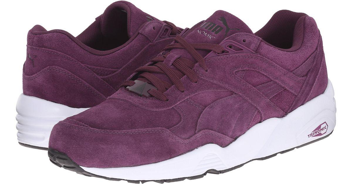 grande vente 25909 4b36b PUMA Purple R698 Allover Suede