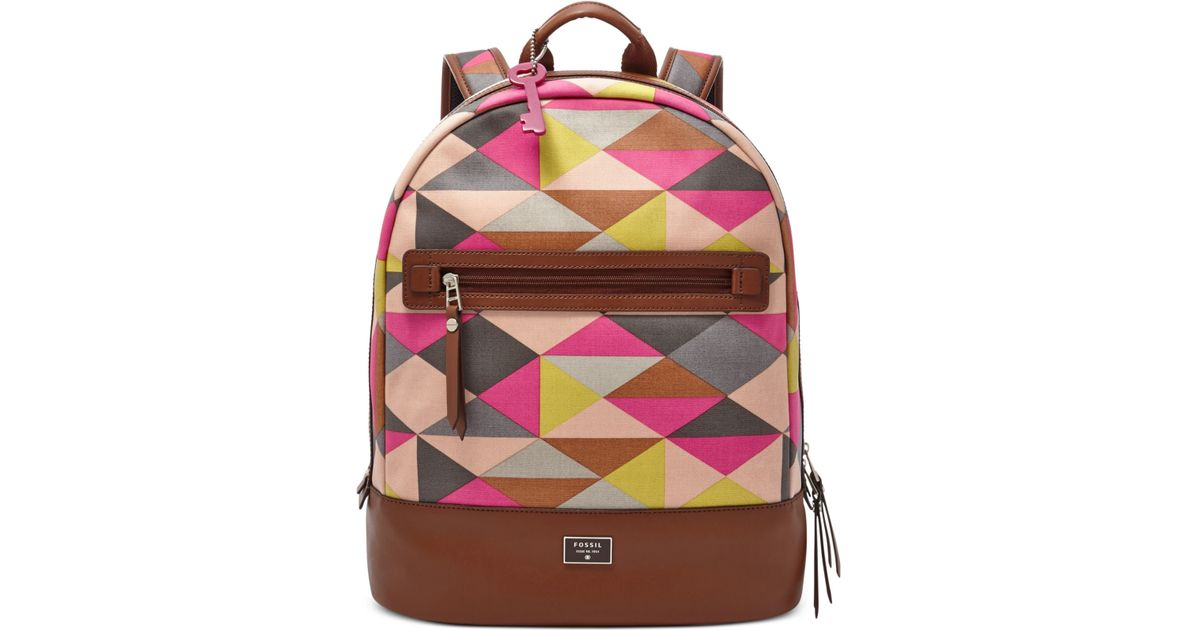 586a13218372 Lyst - Fossil Dawson Canvas Backpack in Brown