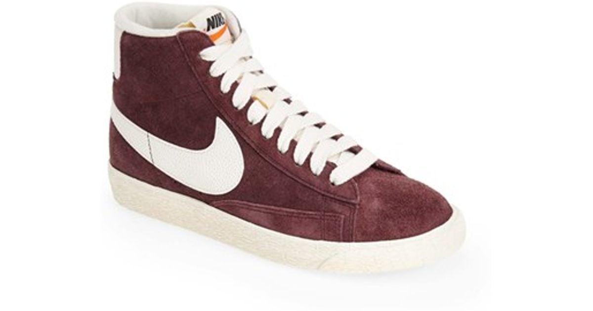 a9a0cc83b3 ... promo code lyst nike blazer vintage high top basketball sneakers in  purple a61a4 7b1fa