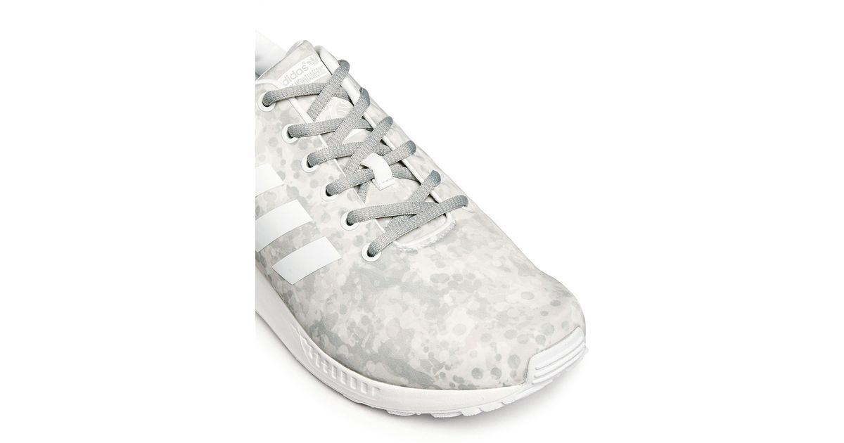 c5642306b982 Lyst - White Mountaineering X Adidas Originals  zx Flux  Snow Camouflage  Sneakers in White for Men