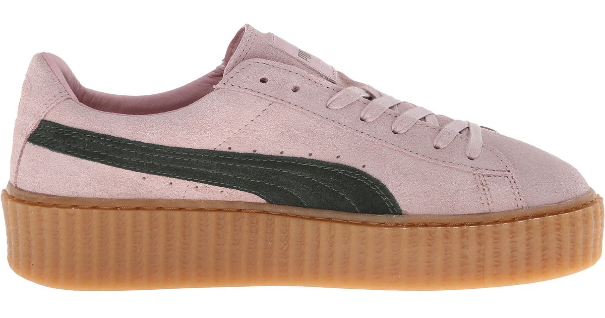 the best attitude 5cb11 d35c2 PUMA Pink Rihanna X Suede Creepers