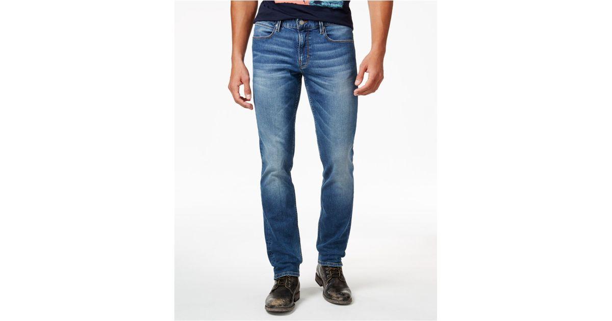 boss orange orange 63 slim fit jeans in blue for men. Black Bedroom Furniture Sets. Home Design Ideas