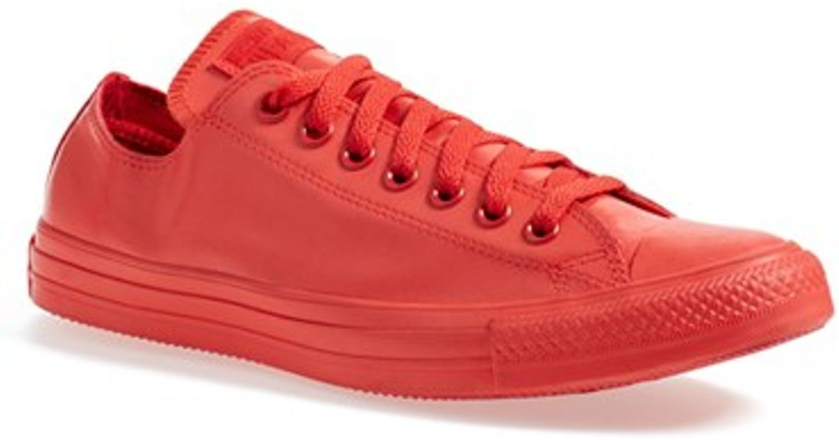 7ce6ebf8e53 Lyst - Converse Chuck Taylor All Star Ox Rubber Sneakers in Red for Men