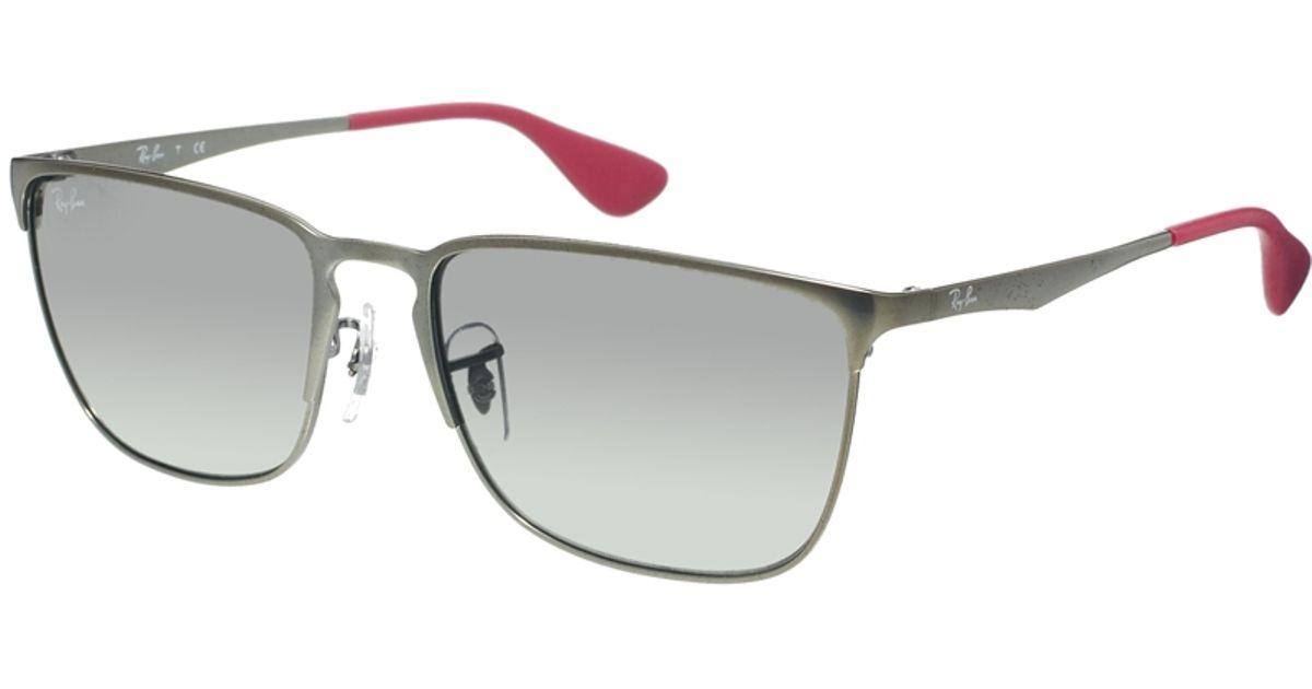 Metallic Gold Frame Wayfarer Sunglasses : Ray-ban Metal Wayfarer Sunglasses in Metallic for Men Lyst