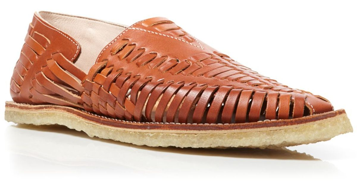 TOMS Leather Huaraches Sandals in