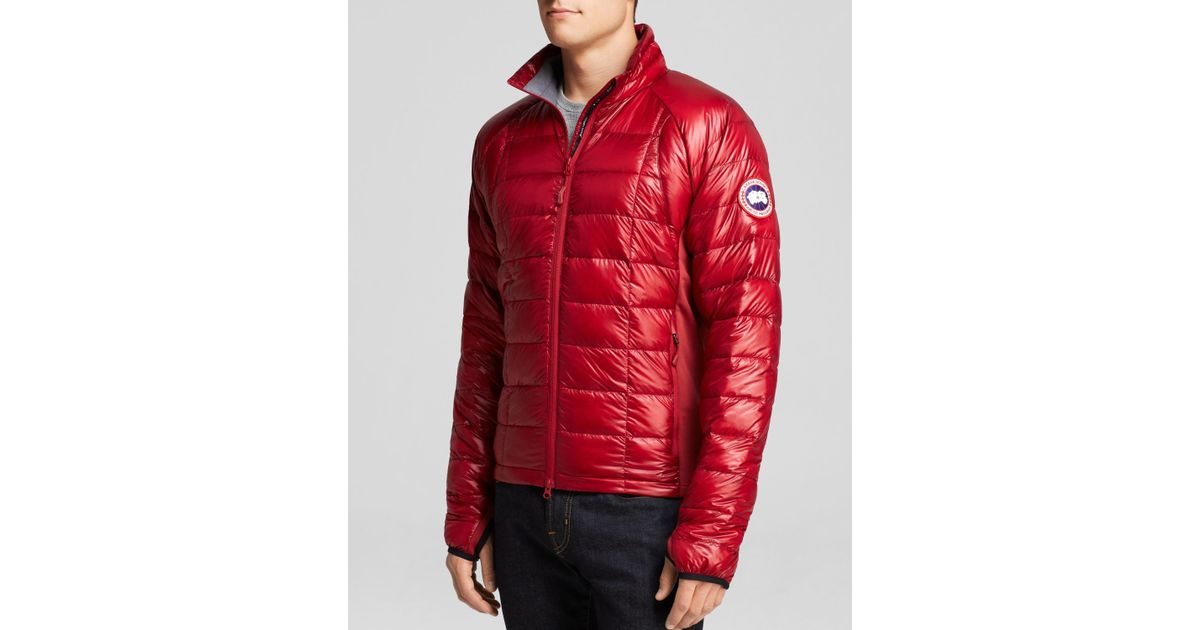 46ff4b6e62cb official lyst canada goose hybridge lite quilted down jacket in red for men  58a39 da374