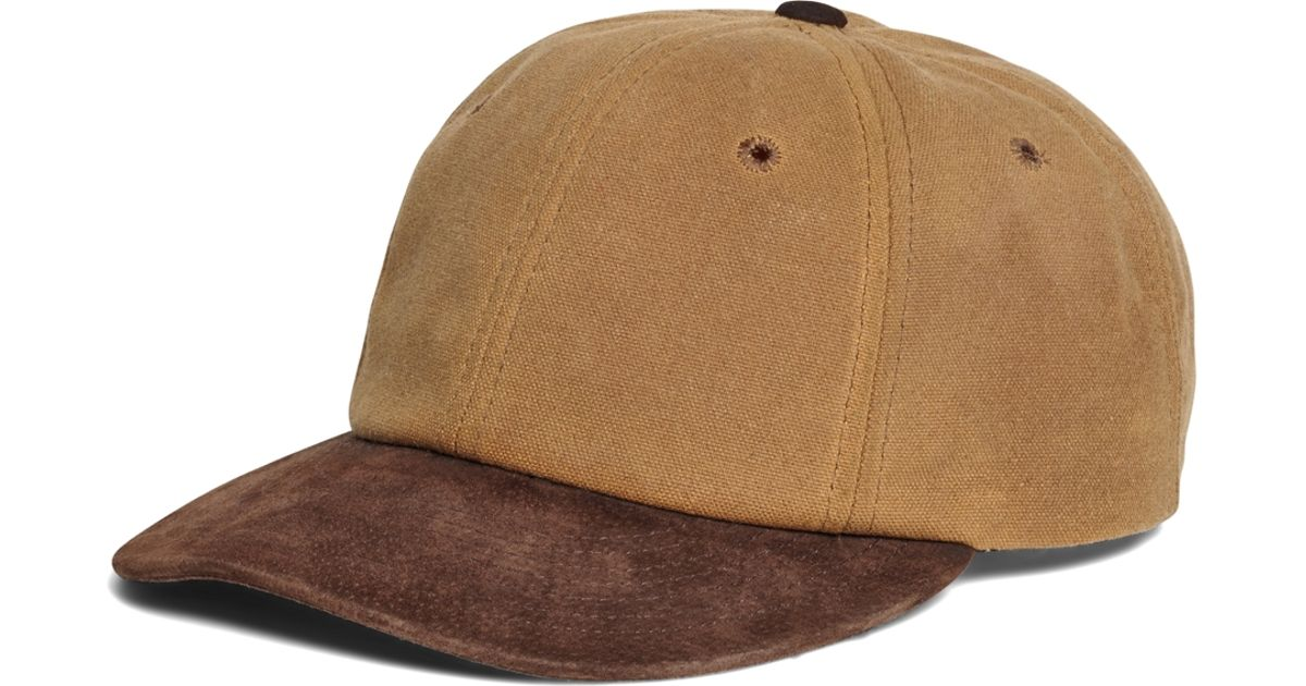 Brooks Brothers Waxed Canvas Baseball Hat In Brown For Men