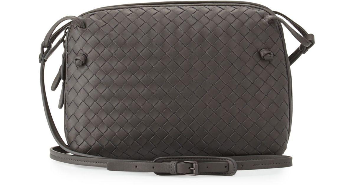 b4ce356e10e4 Lyst - Bottega Veneta Intrecciato Double-compartment Bag in Gray