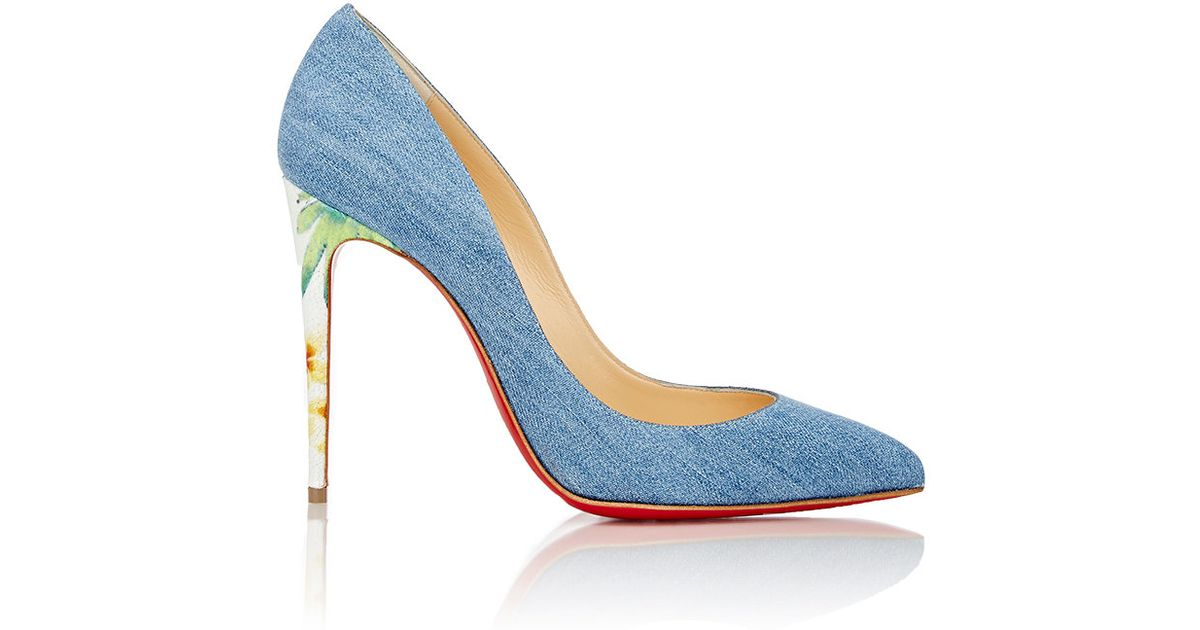 timeless design 056c4 5b294 Christian Louboutin Blue Pigalle Follies Denim Pumps