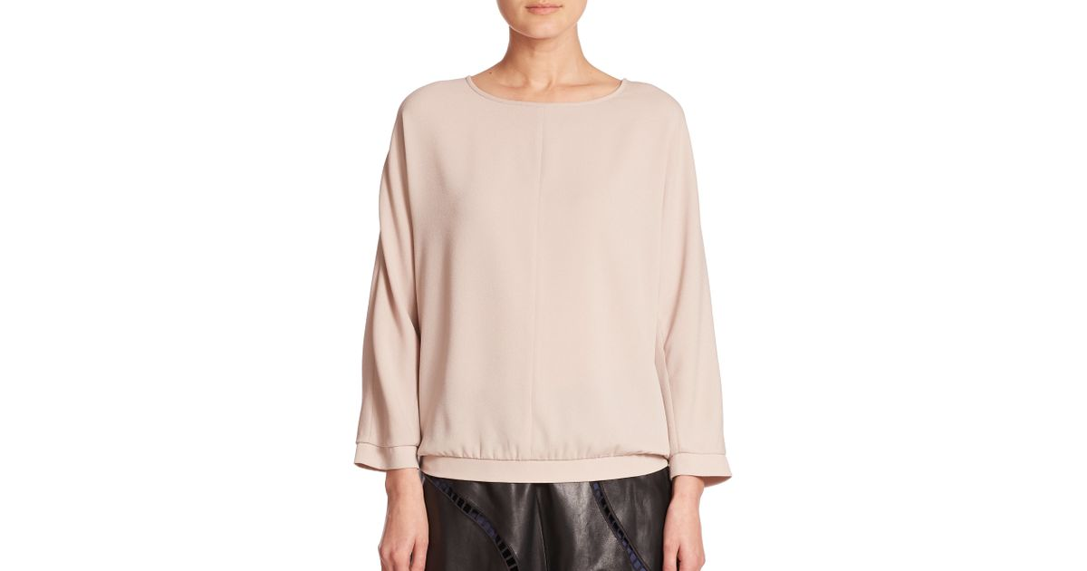 0887c1e5f7375 Lyst - Tibi Dolman Easy Three-quarter Sleeve Top in Pink