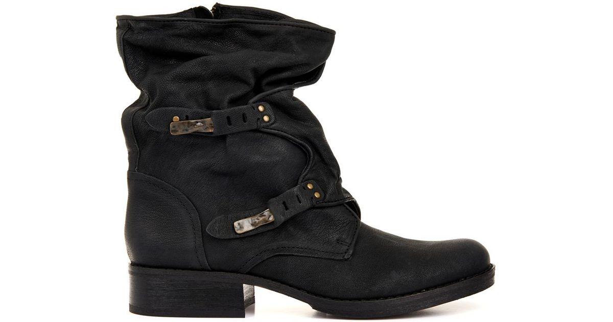 5e26e0c47af81 Sam Edelman Ridge Leather Boots in Black - Lyst
