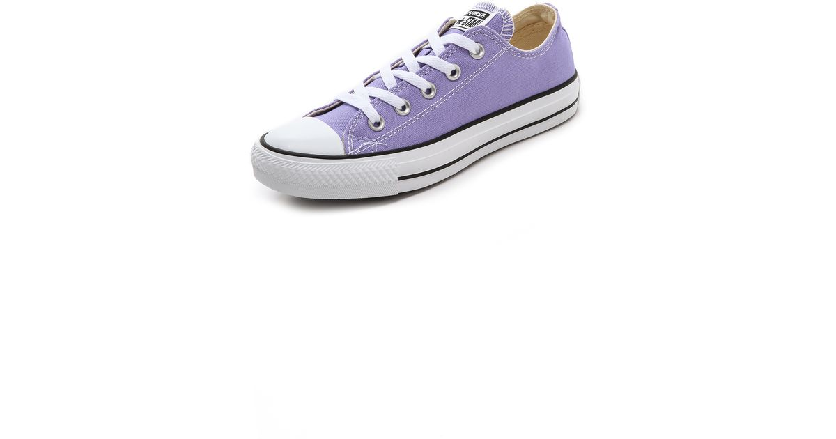 2330726c6f84 Lyst - Converse Low Top Ox Sneakers Lavender in Purple