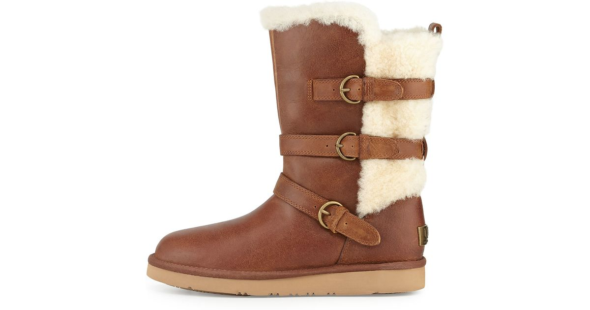 0c74341d573 UGG Brown Becket Triple-buckle Boot