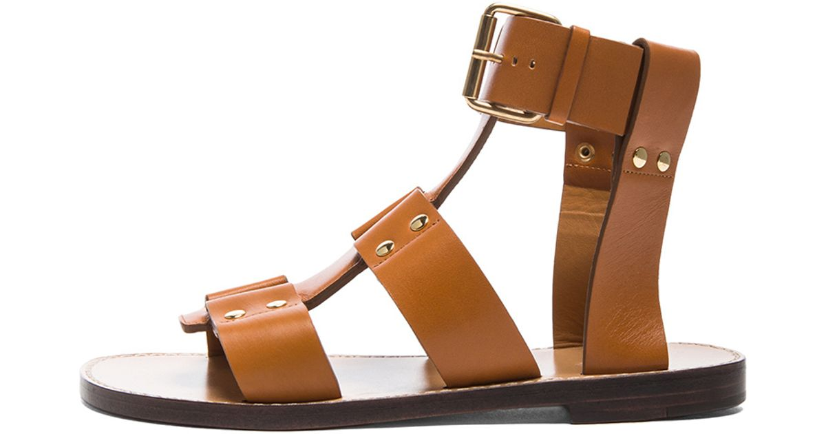 Leather Chloé Chloé Leather Brown Gladiator Chloé Sandals Brown Gladiator Sandals 4jL5R3Aq