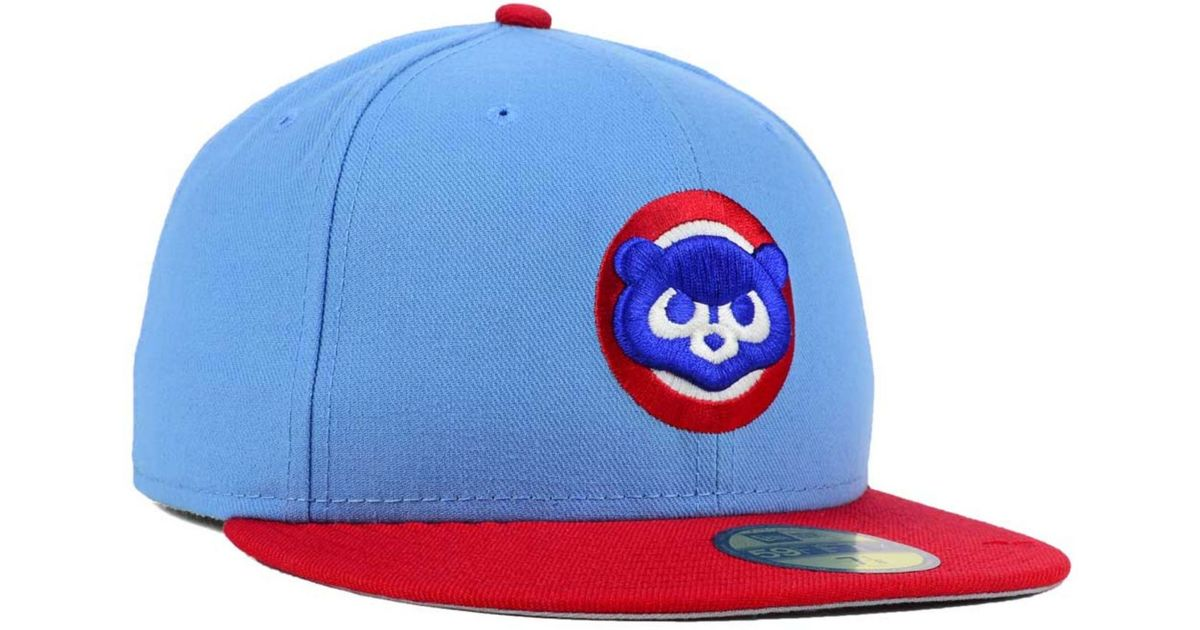 Lyst - KTZ Chicago Cubs Cooperstown 2 Tone 59Fifty Cap in Blue for Men 1a70d408cca