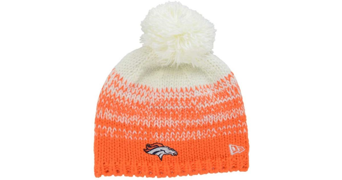 Lyst - KTZ Women s Denver Broncos Polar Dust Knit Hat in Orange for Men 37200a4a3
