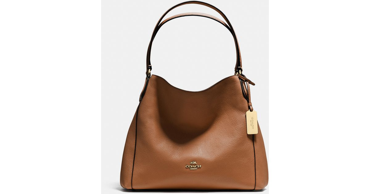 b012d208cf3f Lyst - COACH Edie Shoulder Bag 31 In Refined Pebble Leather