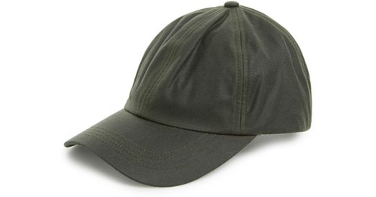 0dba7a593fb6bb Barbour Waxed Canvas Baseball Cap in Green for Men - Lyst