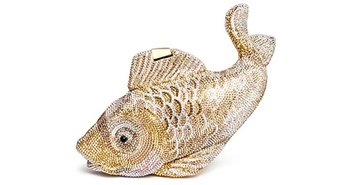 Judith leiber 39 yamabuki ogon 39 koi fish crystal pav for Yamabuki ogon koi for sale