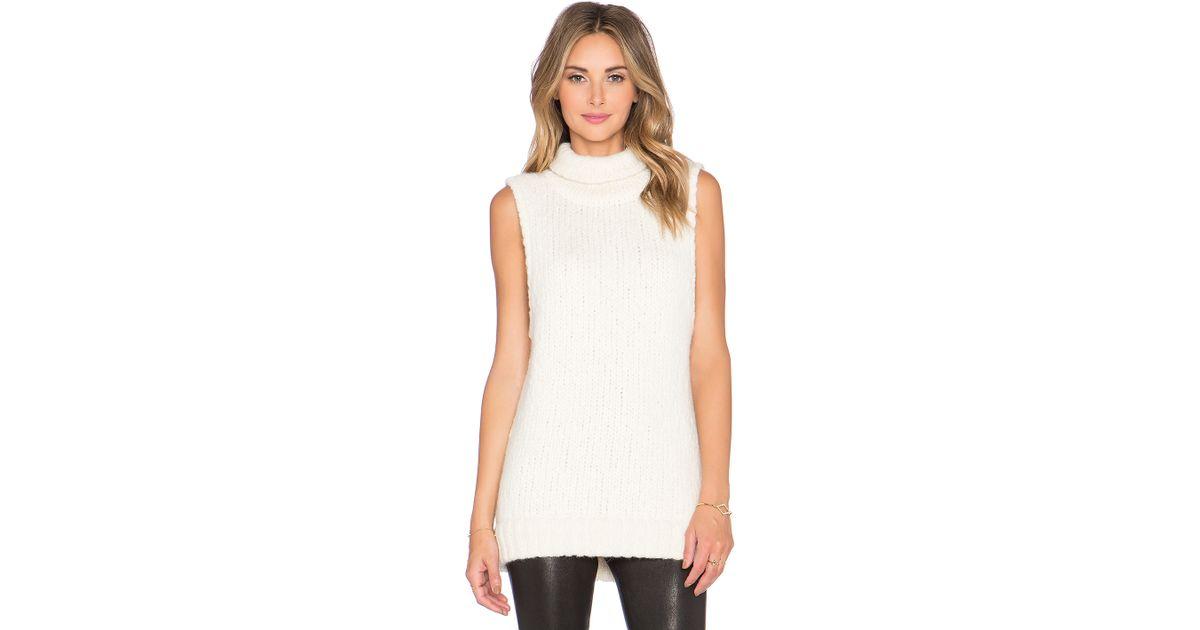 Kathryn mccarron Mckenna Oversized Sleeveless Sweater in White | Lyst