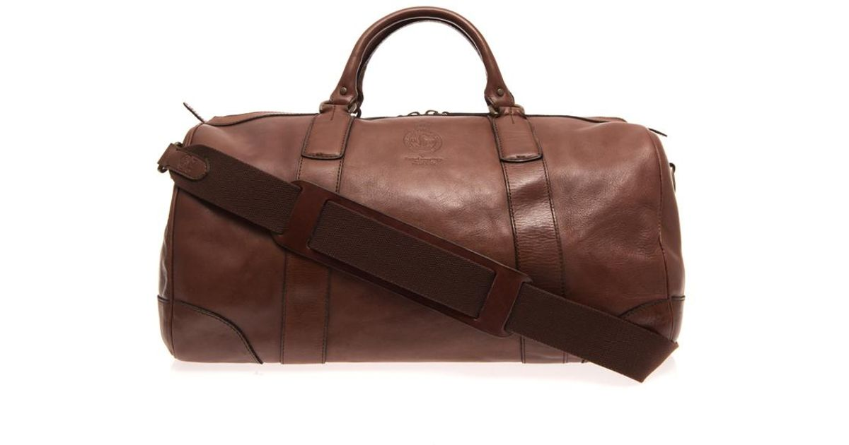 201cb5abd910 Lyst - Polo Ralph Lauren Leather Travel Bag in Brown for Men