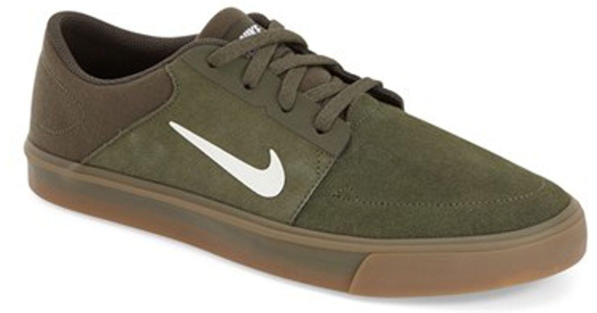 Nike 'sb Portmore' Skate Shoe in Green